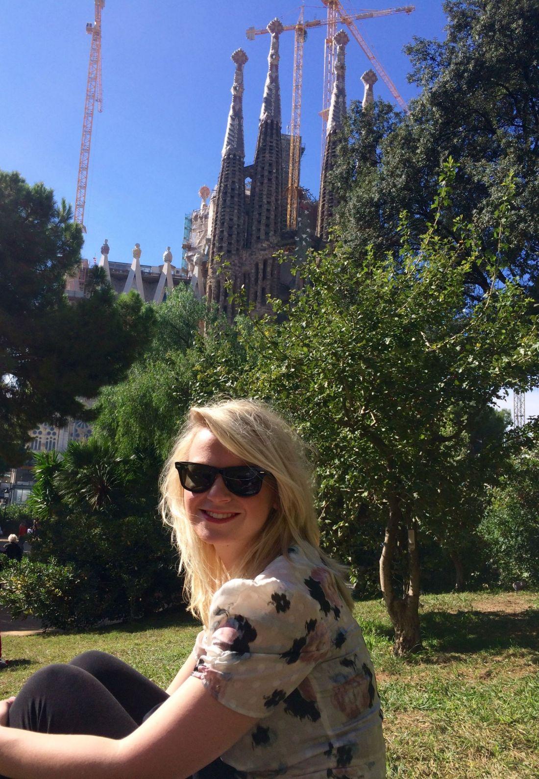 Laura at the Sagrada Familia