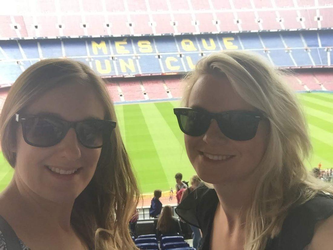 Girls at Camp Nou, Barcelona