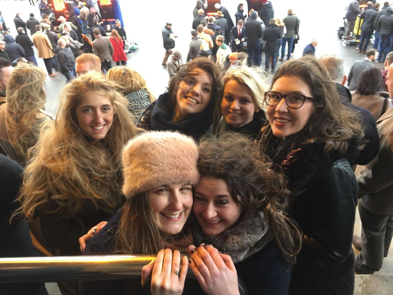 Girls on New Year's Day at Cheltenham Races