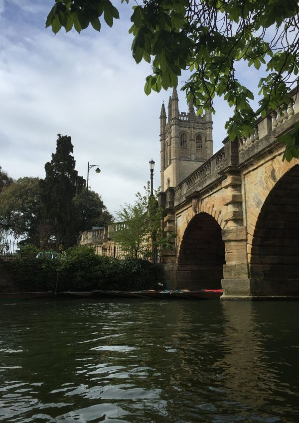 Punting in Oxford, UK