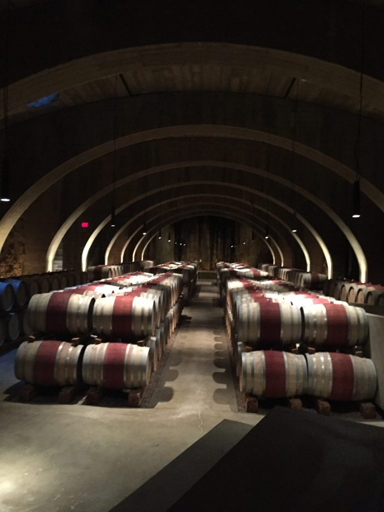 Barrels of wine at Mission Hill Winery, Okanagan