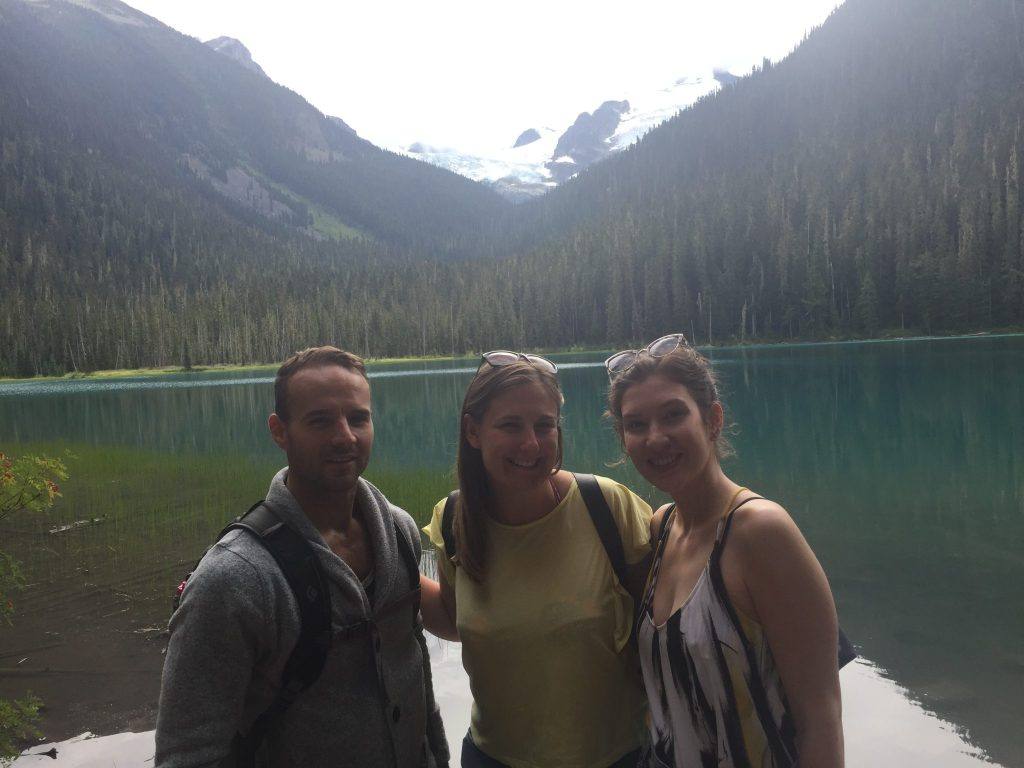 Friends at Lower Joffre Lakes, BC