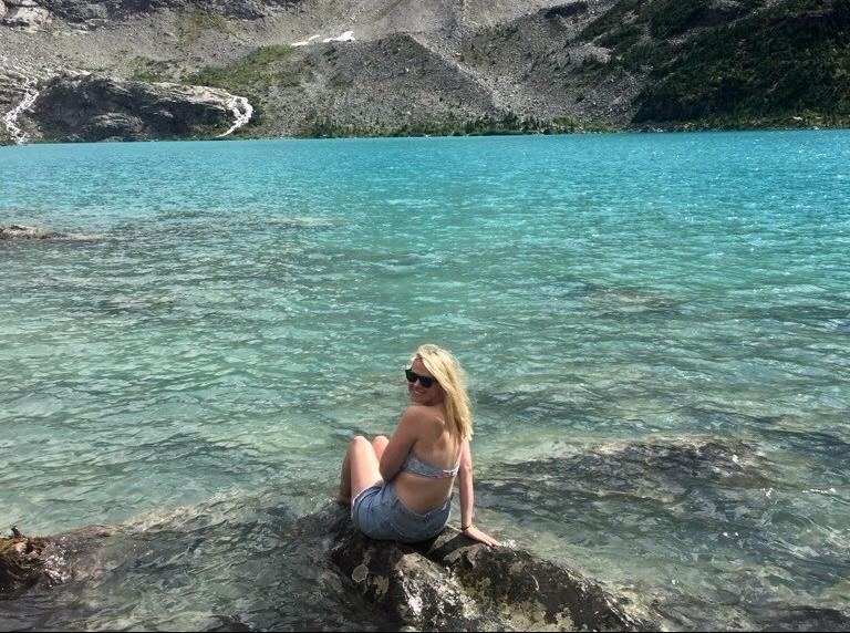 Girl at Joffre Lakes