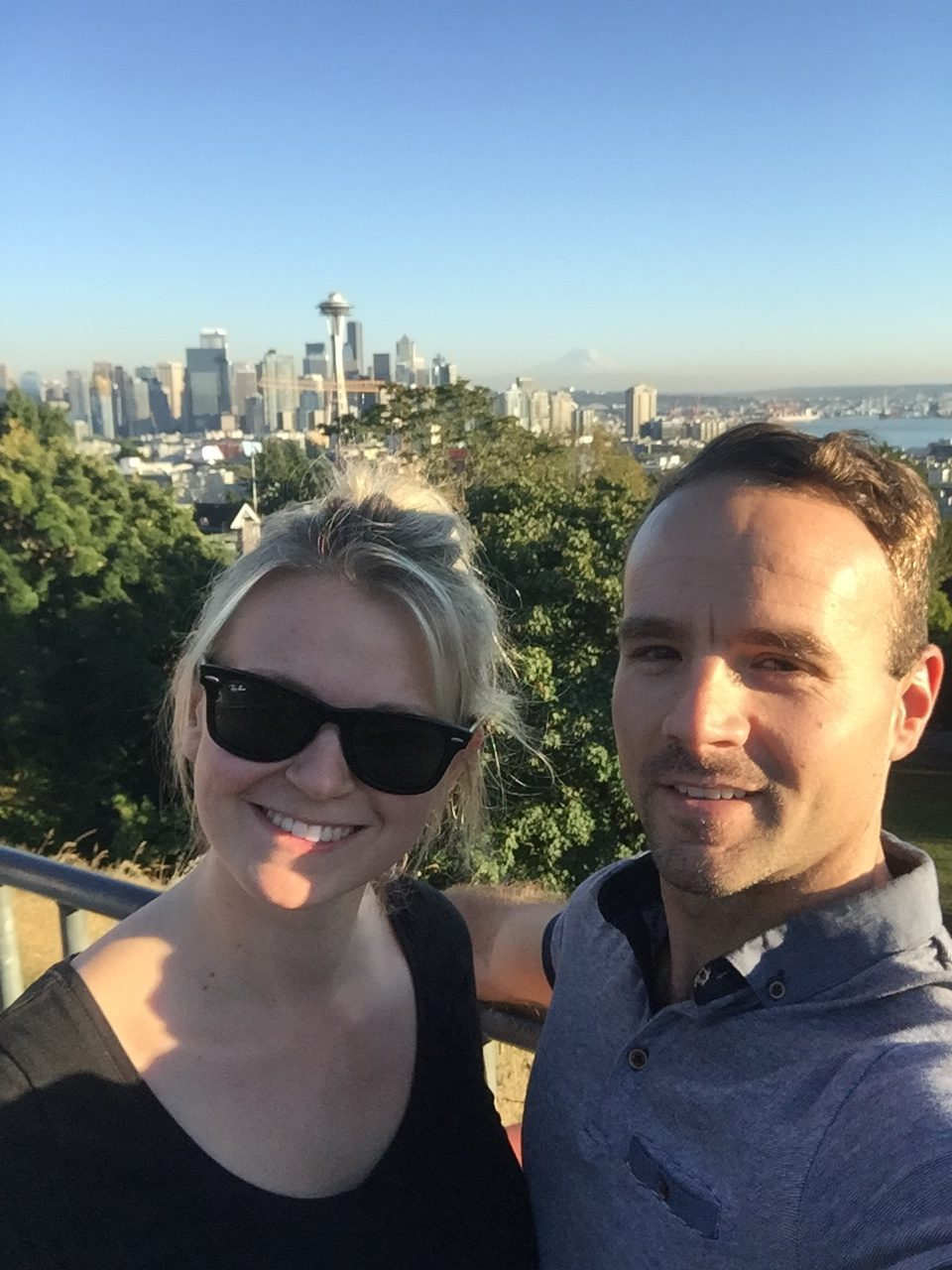 Couple in Kerry Park, Seattle