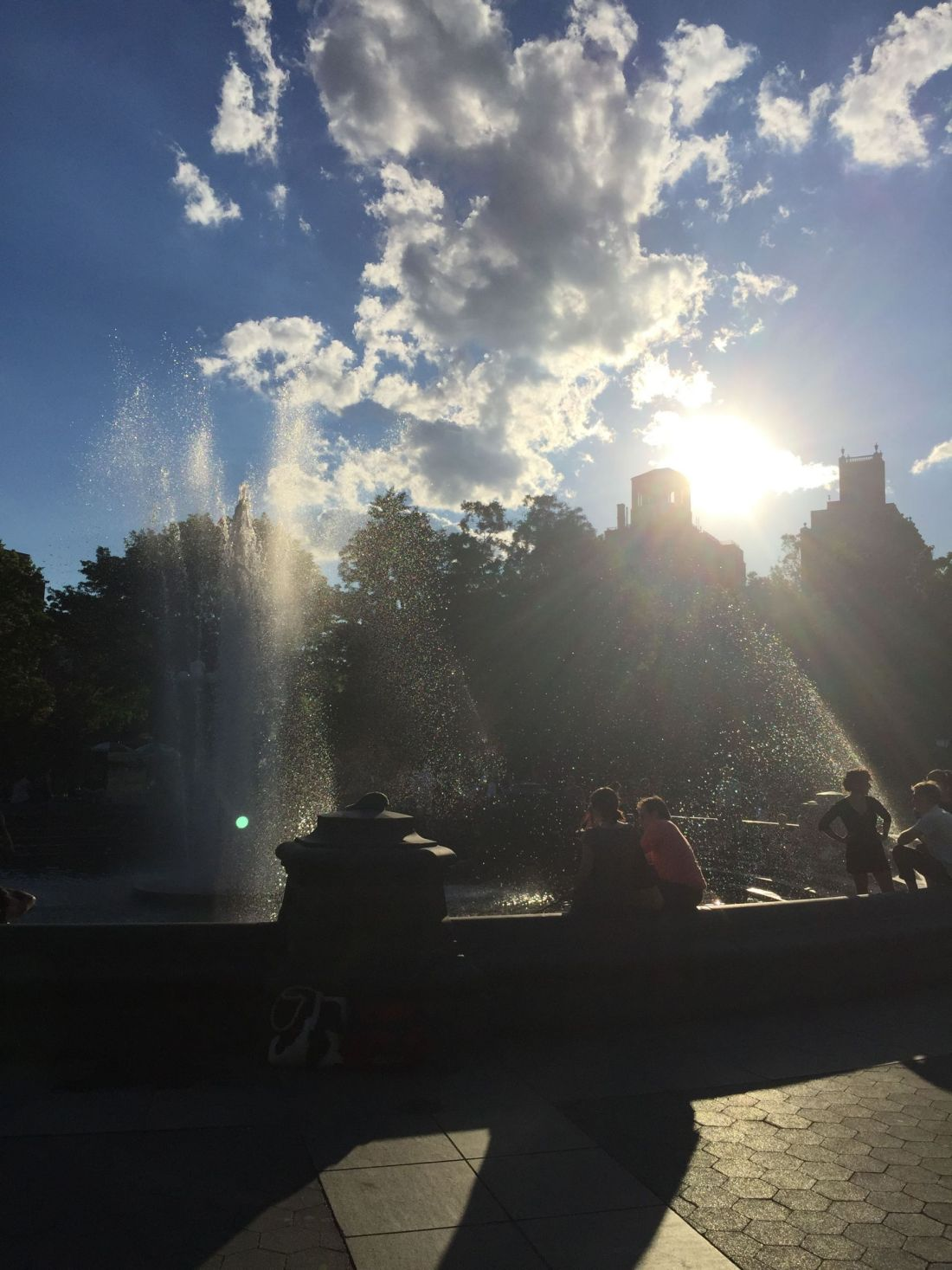 The fountain in Washington Square Park, New York
