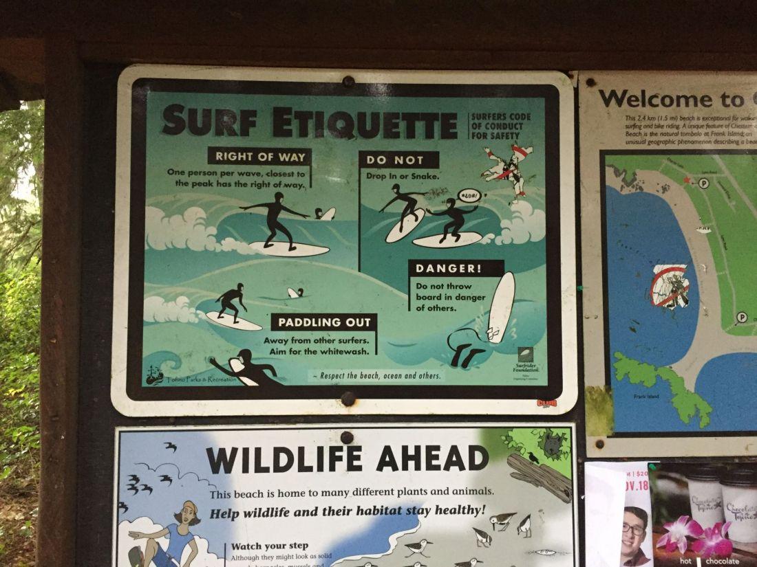 Chesterman Beach surf etiquette