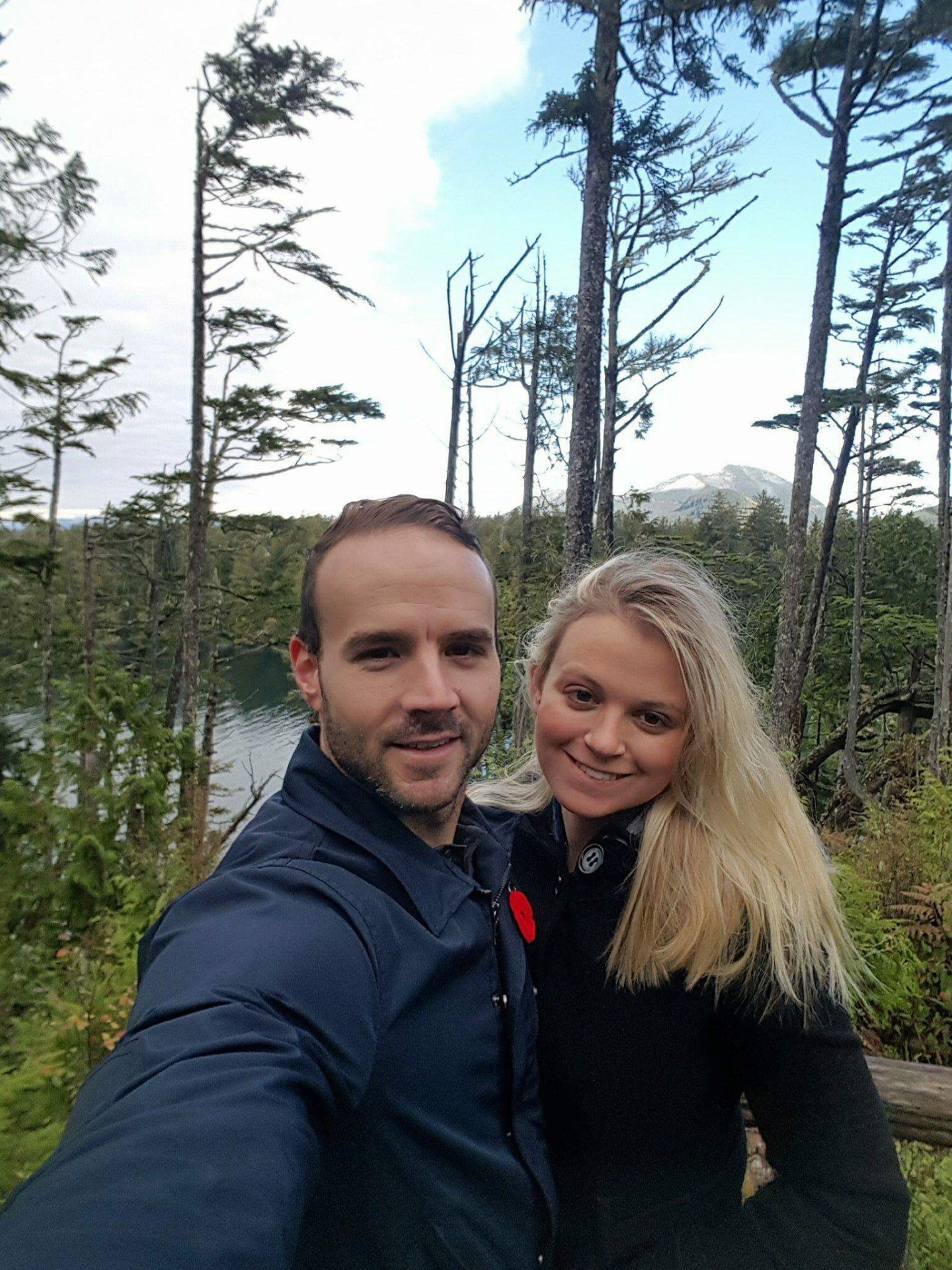 Couple on the Wild Pacific Trail, Vancouver Island