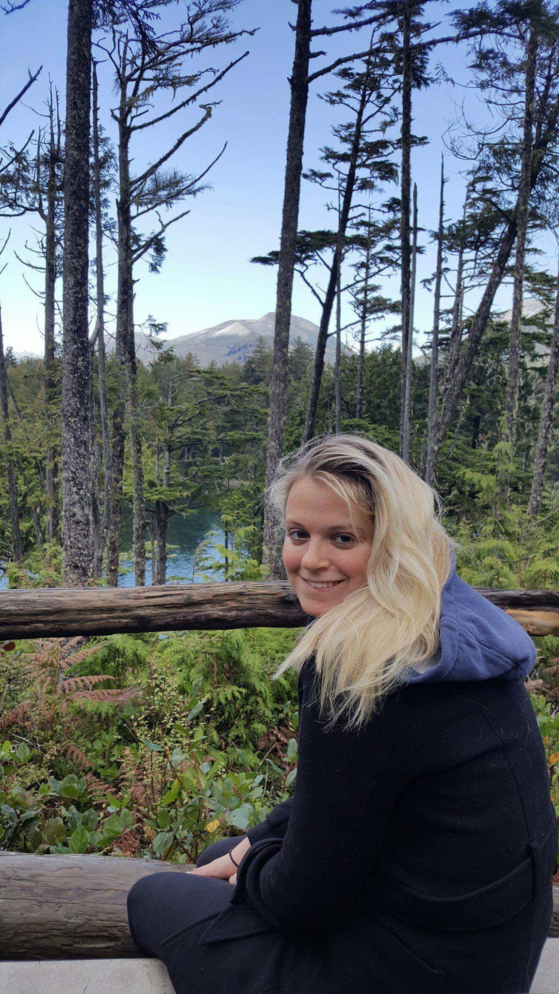 Laura on the Wild Pacific Trail