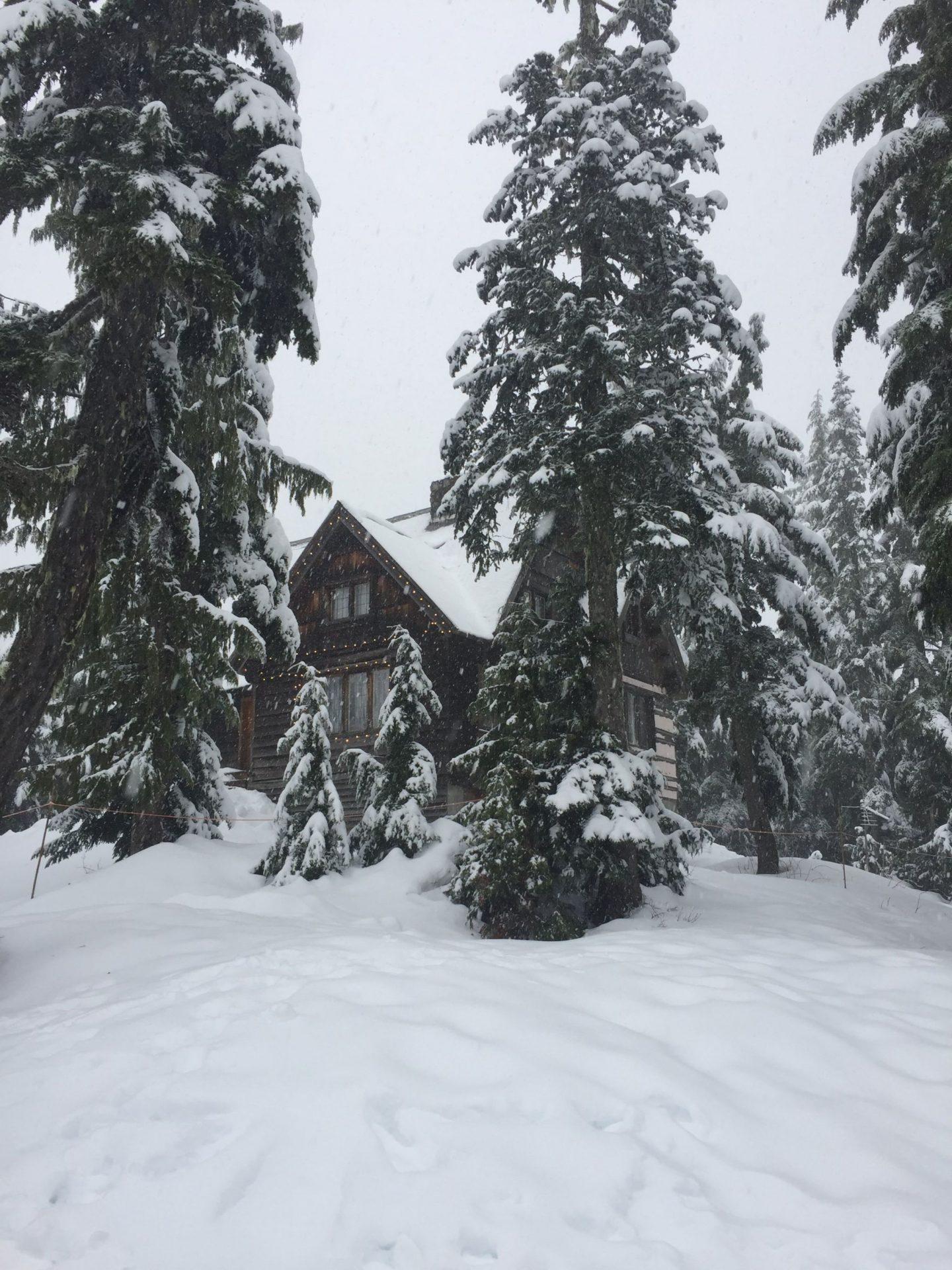 An adorable winter ski lodge on Mount Seymour, Vancouver
