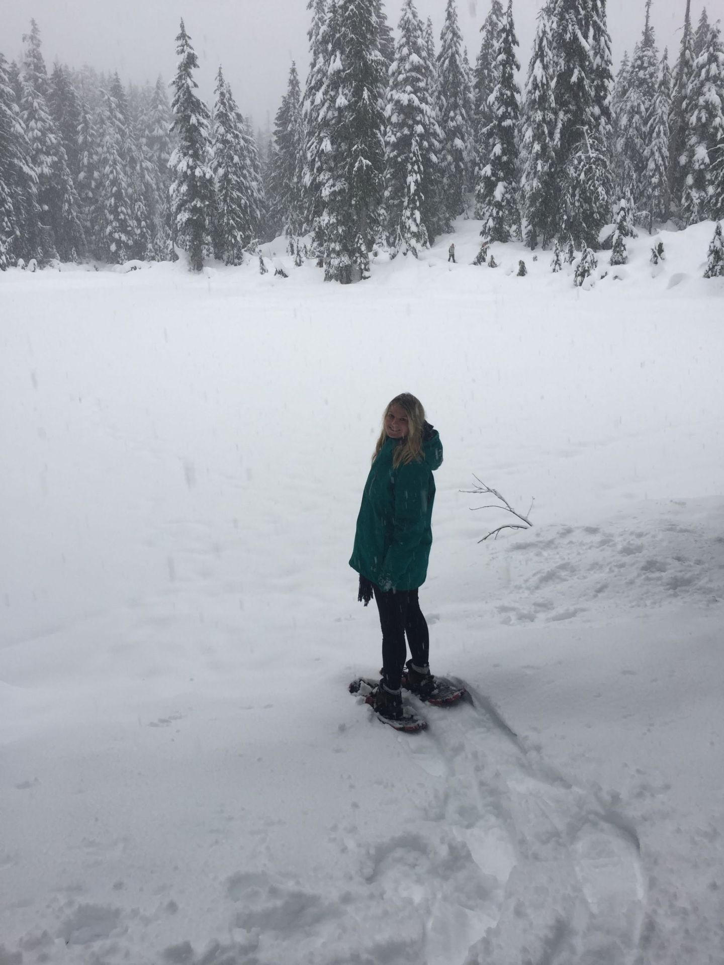 Laura snowshoeing on Mount Seymour, Vancouver