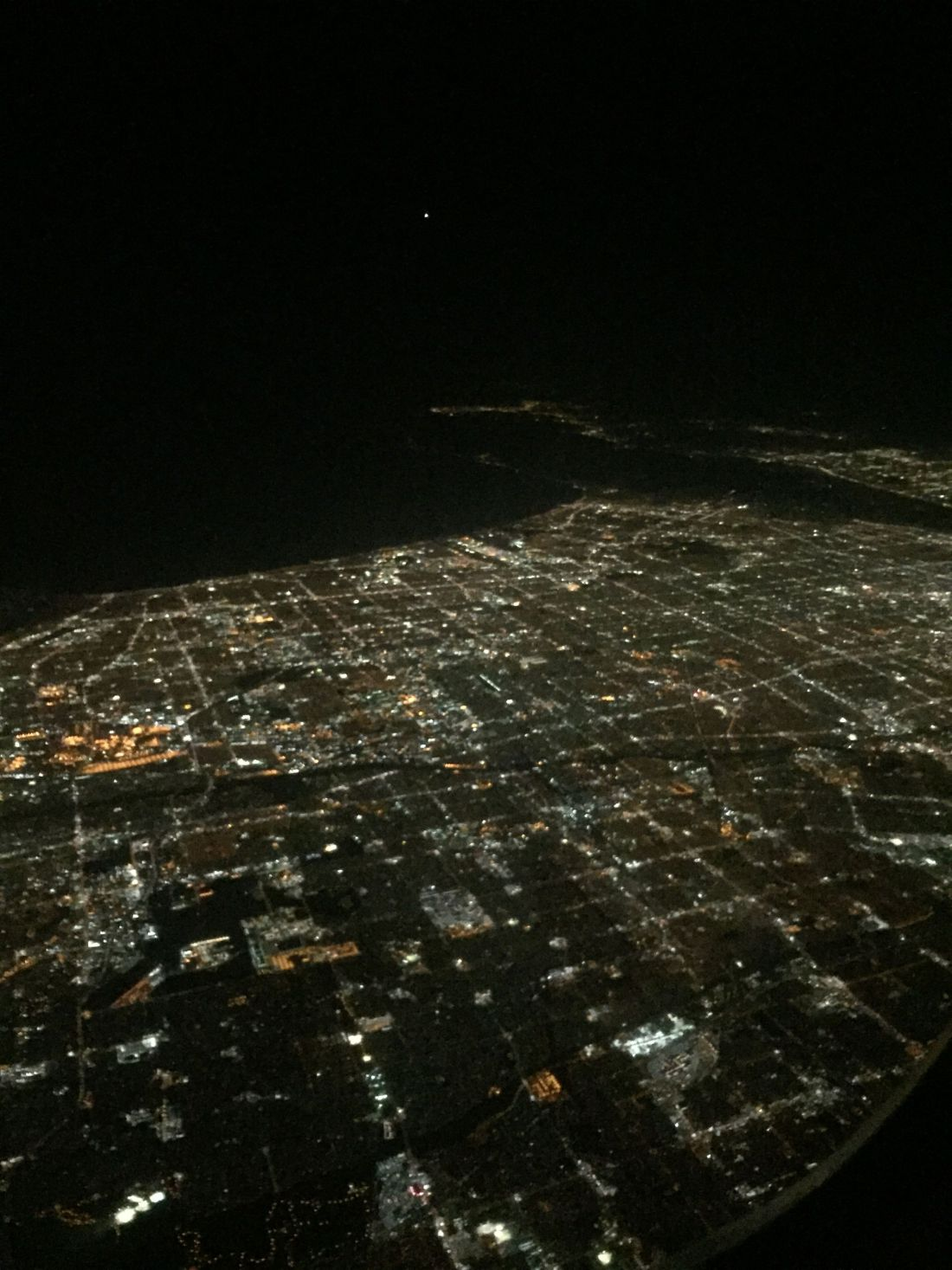 Views of Los Angeles from the plane on the way to San Diego