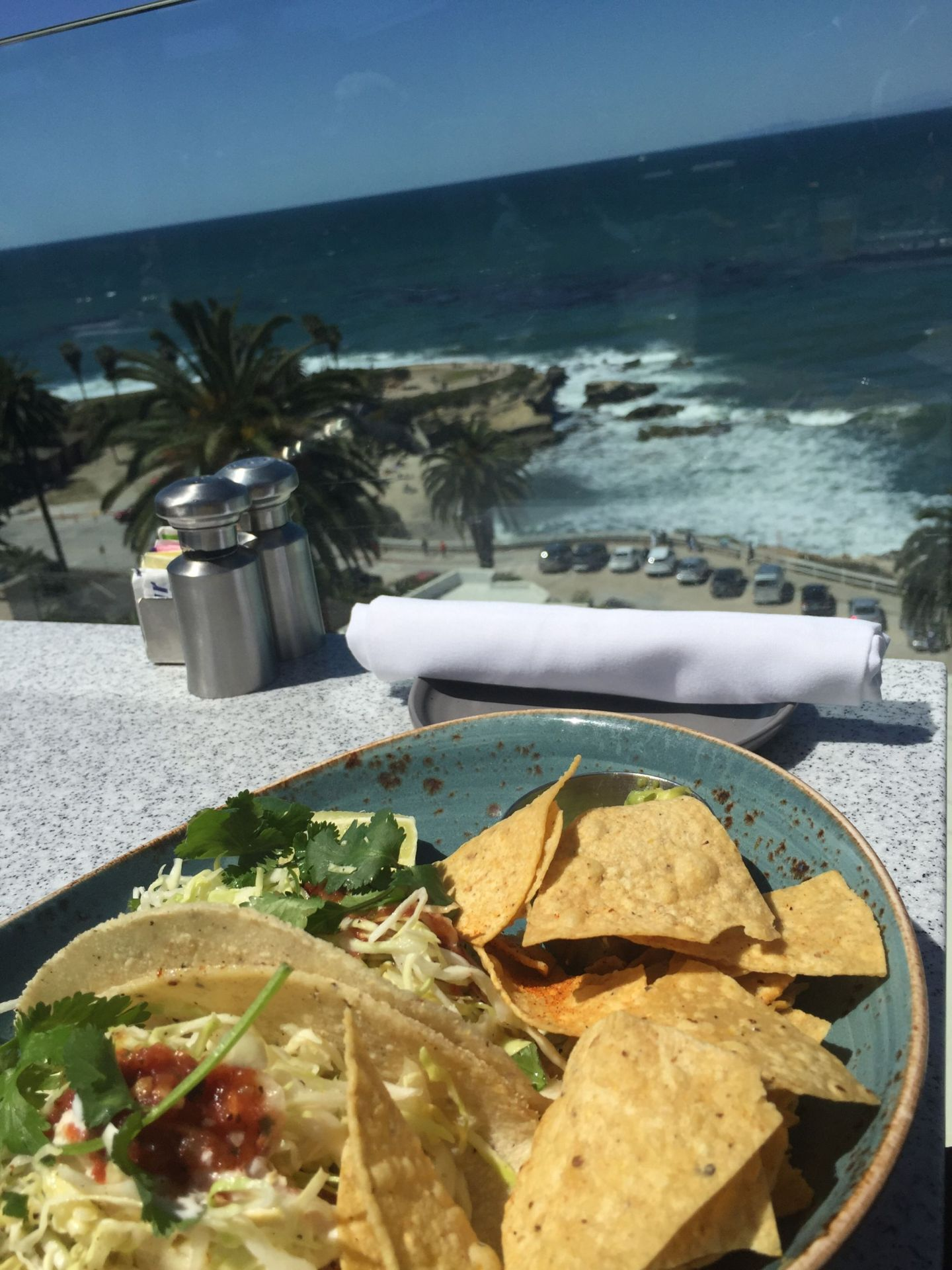 Fish tacos with a view at La Jolla, San Diego