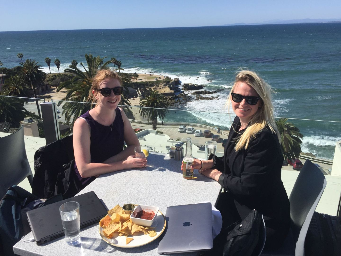 Fish tacos with a view at George's at the Cove, La Jolla, San Diego