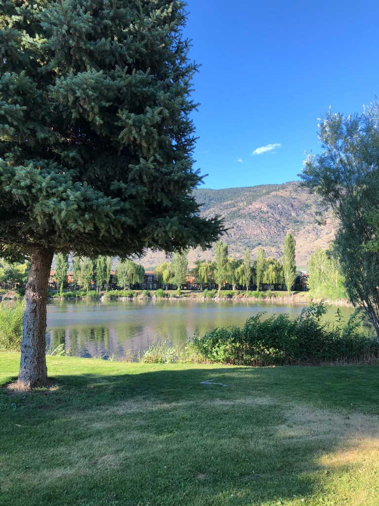 A small lake in Cottonwood Park, Osoyoos