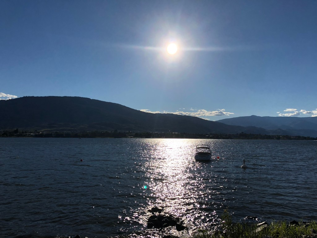 The sun shines down over Osoyoos, Okanagan Valley