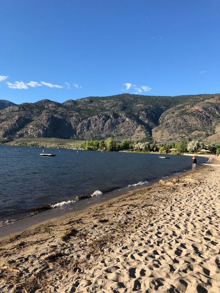 The beautiful beach at Osoyoos, Okanagan Valley