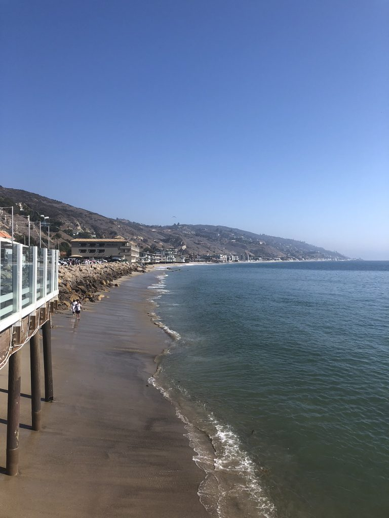 Views from Malibu Pier across to the beach