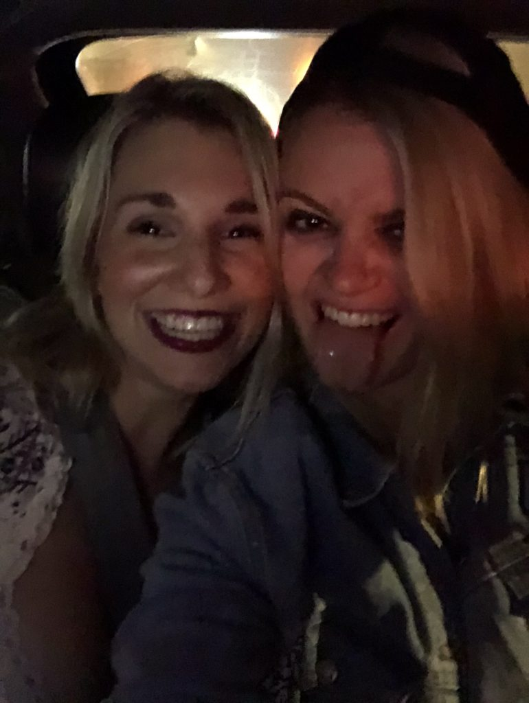Girls in a cab in LA