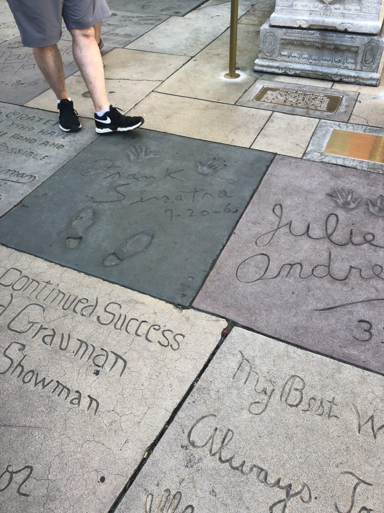 Celebrities' hand prints and signatures in Hollywood