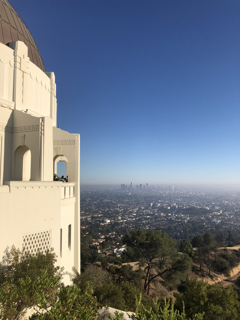 A view of Downtown LA from the Griffith Observatory