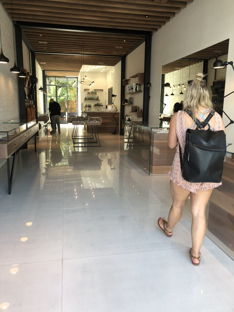 In one of the boutique stores on Abbot Kinney Boulevard, LA