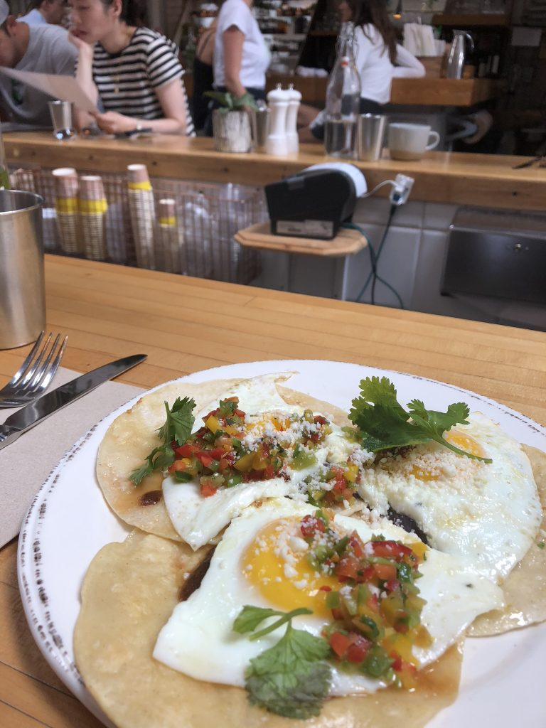 Mexican eggs from The Butcher's Daughter, Venice