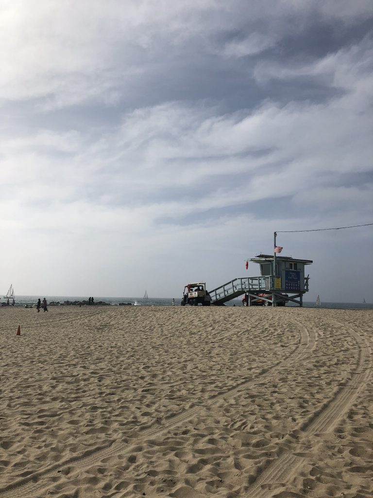 A beach hut on Venice Beach