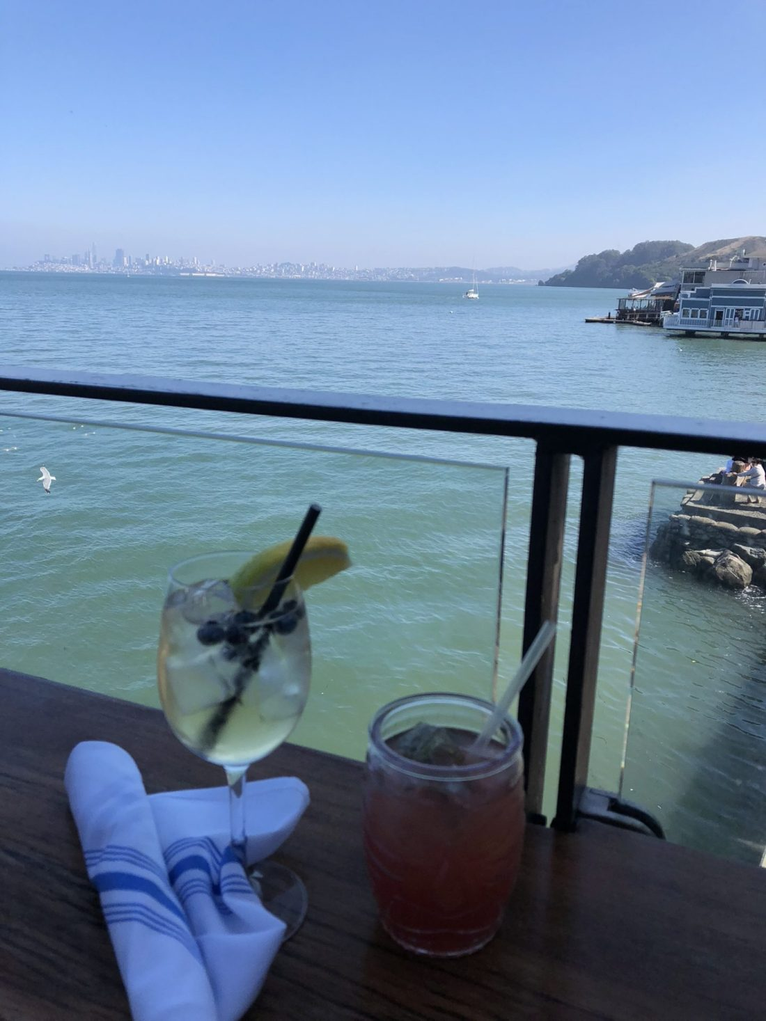 Drinks in Sausalito, California