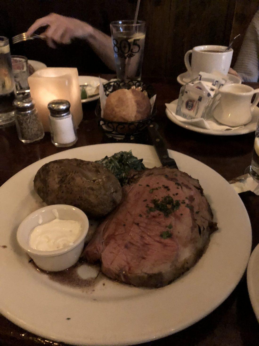 Prime rib at Johnny Foley's, San Francisco