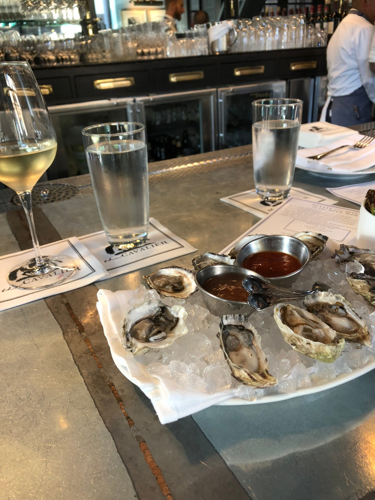 Oysters at Hotel Zetta, San Francisco