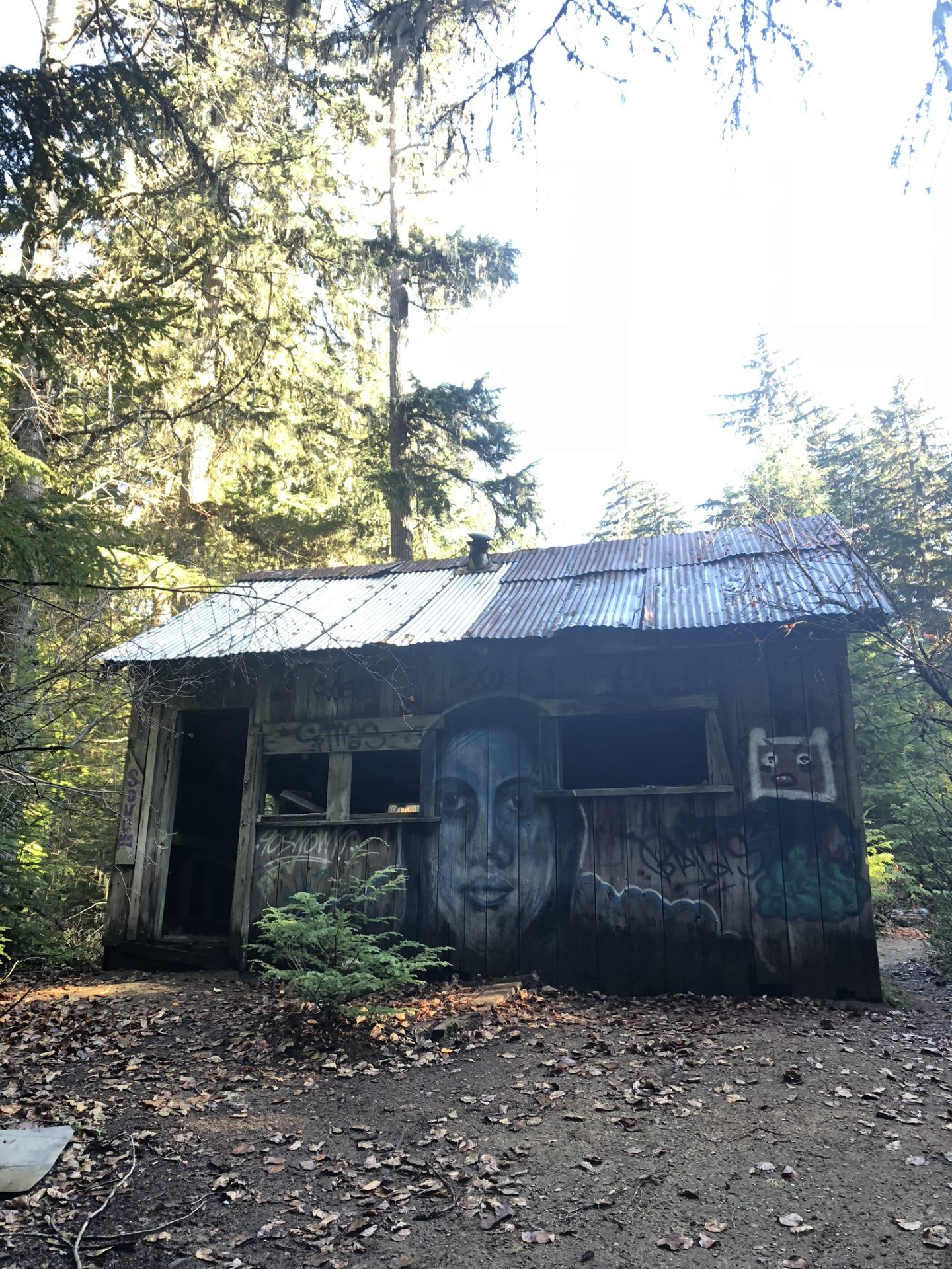 Large abandoned house in Parkhurst ghost town near Whistler, BC