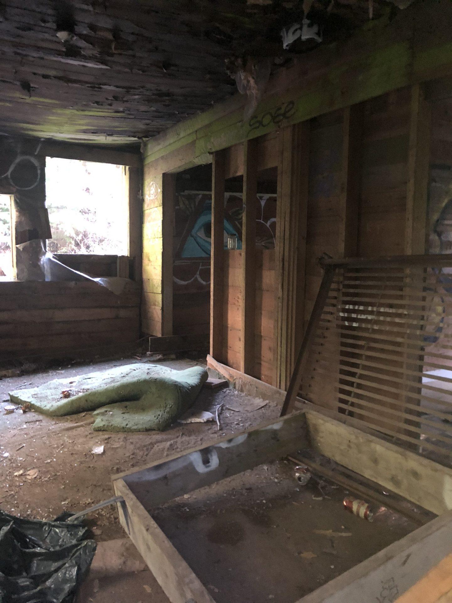 Inside the abandoned house in Parkhurst, Whistler