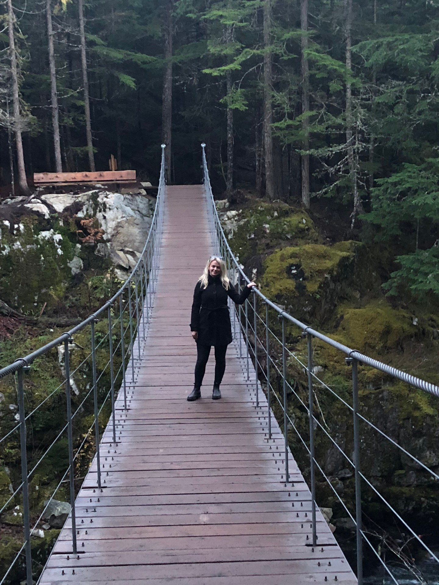 At the bridge to Trainwreck, Whistler