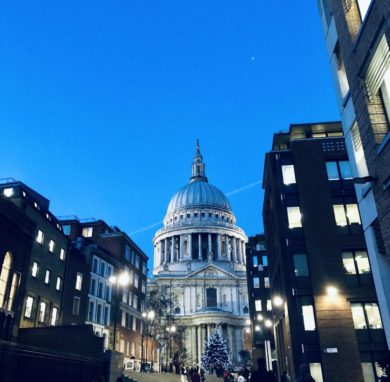St Pauls Cathedral at night, London