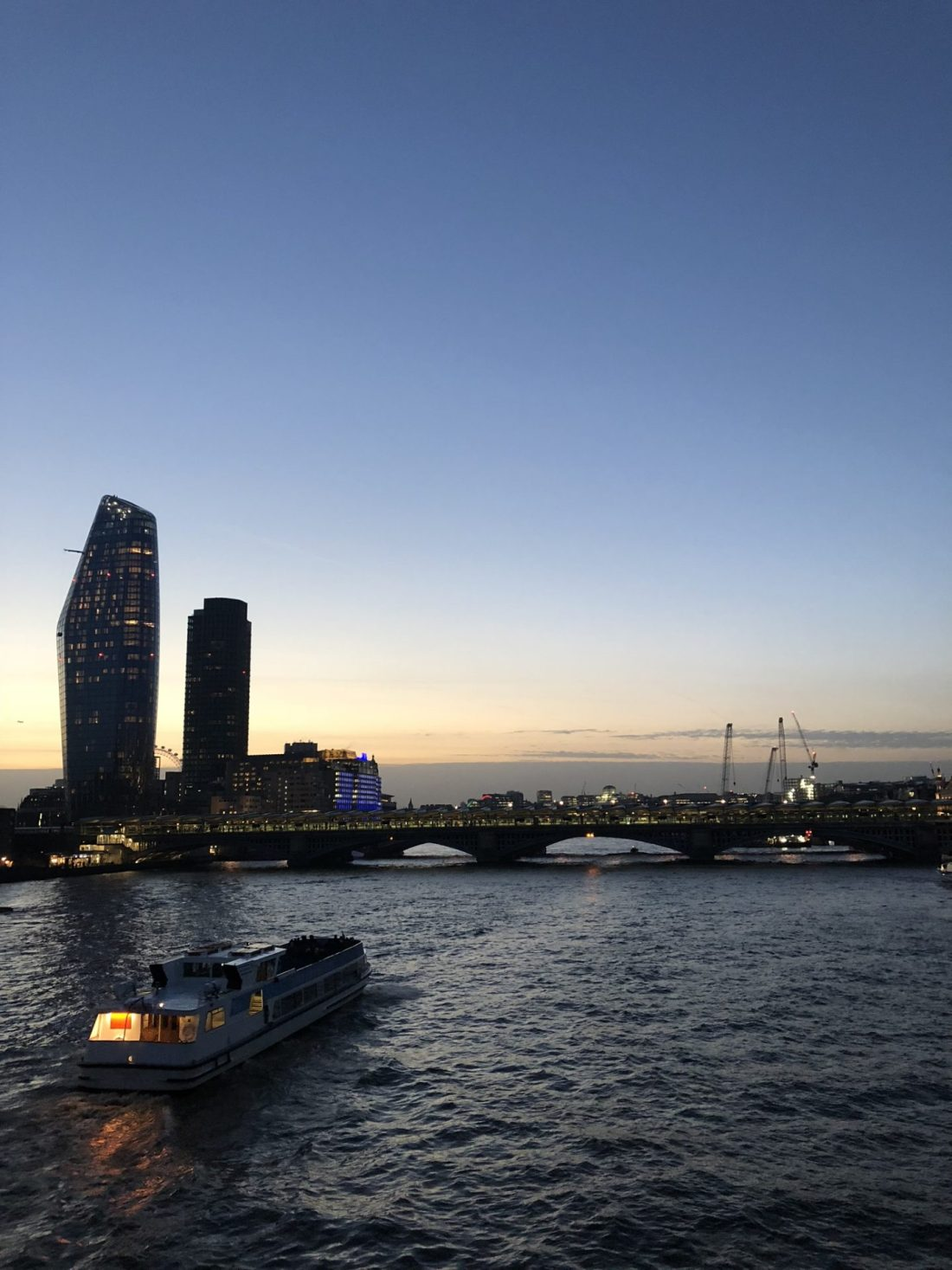 London skyline over the Thames