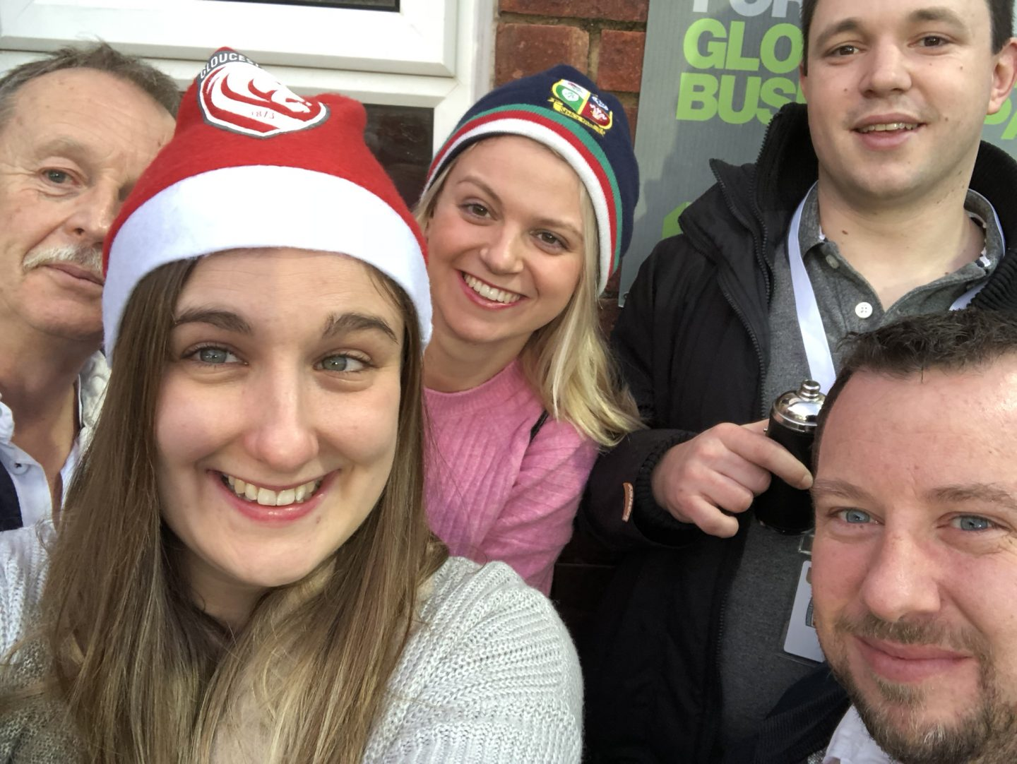 Home for the holidays: group at Gloucester Rugby