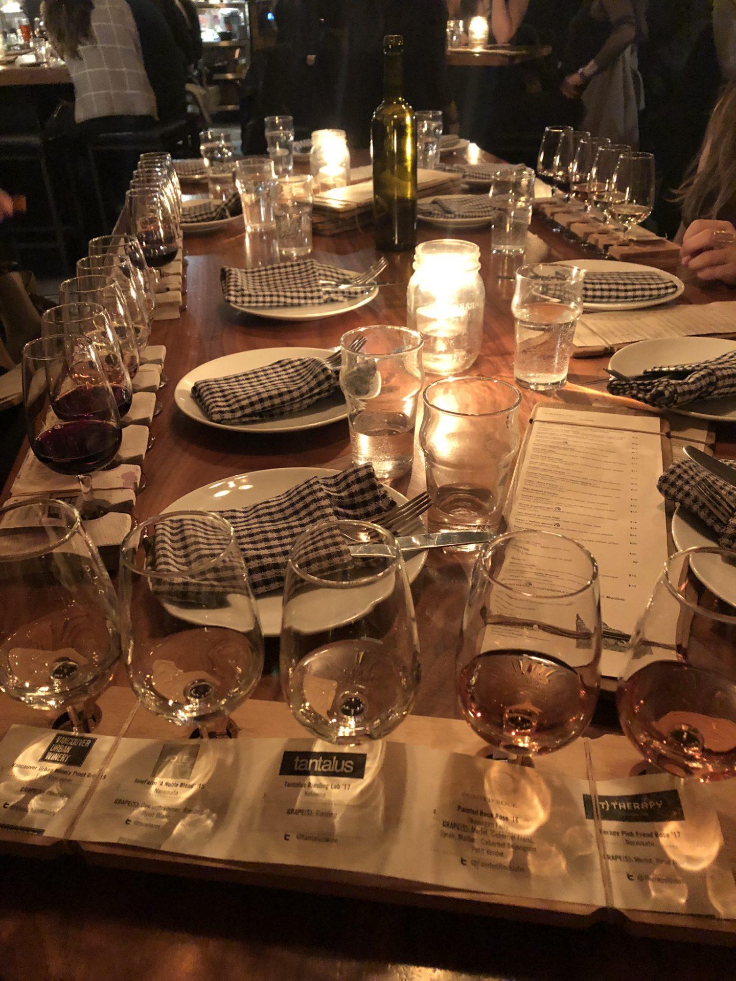 Belgard Kitchen wine flights