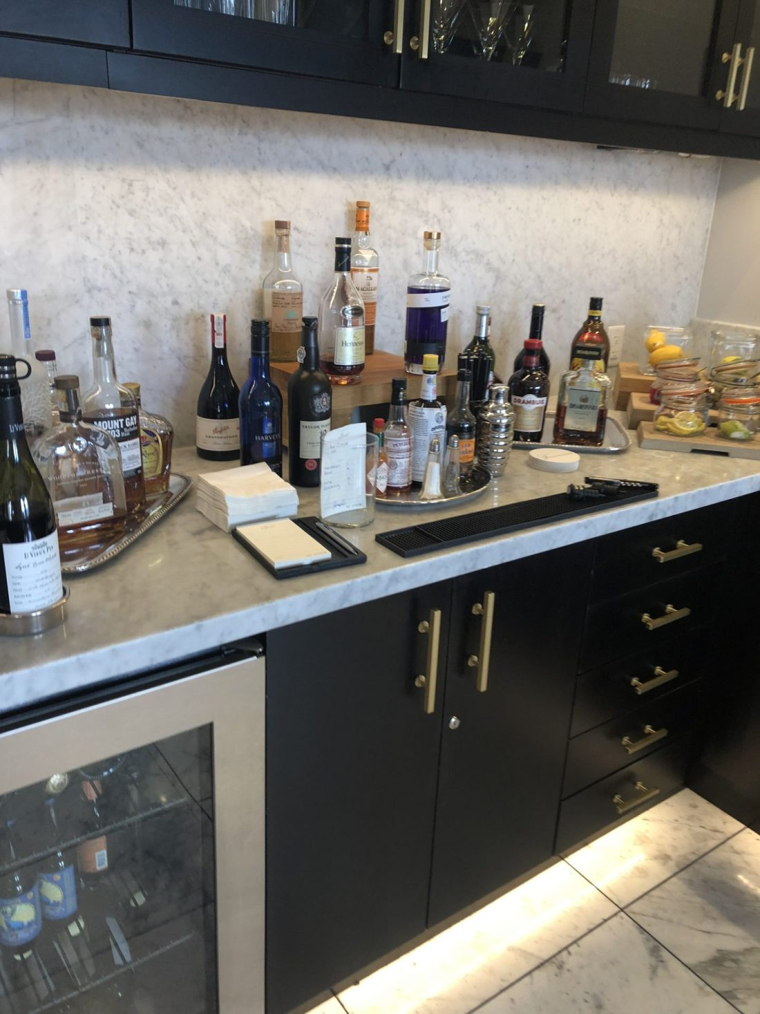 Honesty bar at the Fairmont Empress Gold Lounge