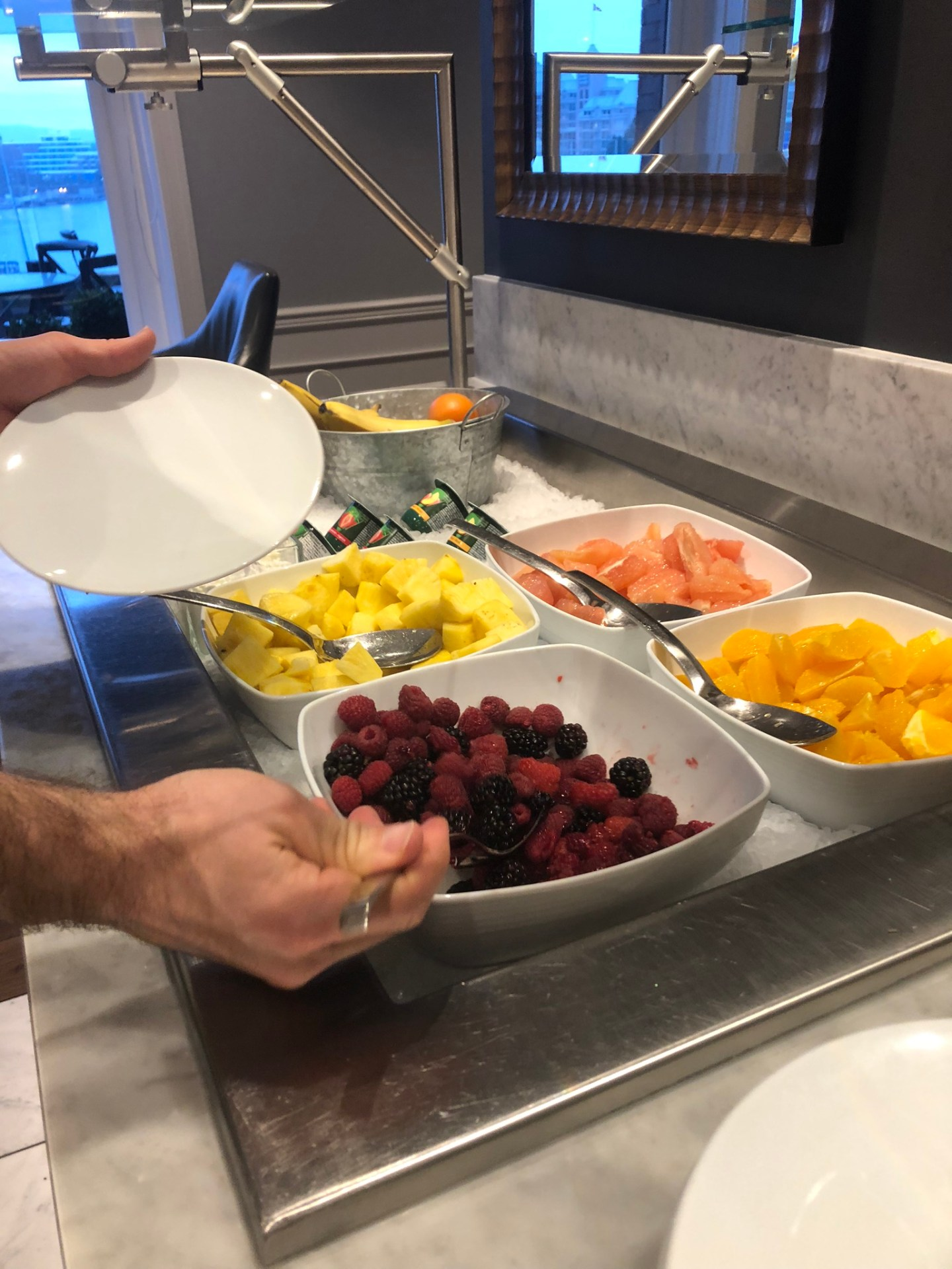 Fresh fruit for breakfast at the Fairmont Empress in Victoria, British Columbia