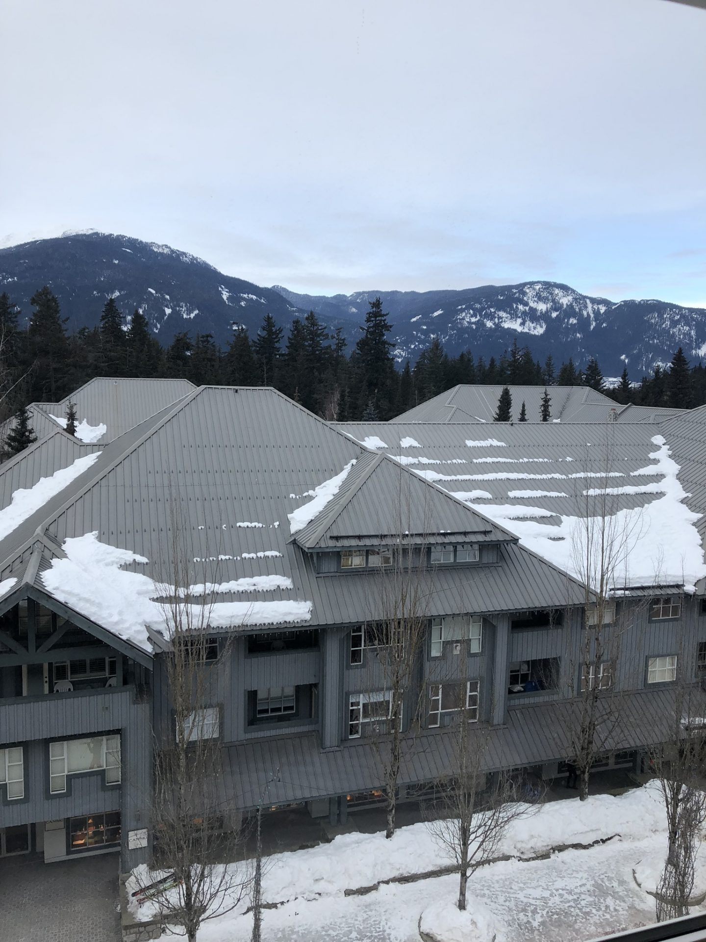 Snowy views from Fairmont Chateau Whistler