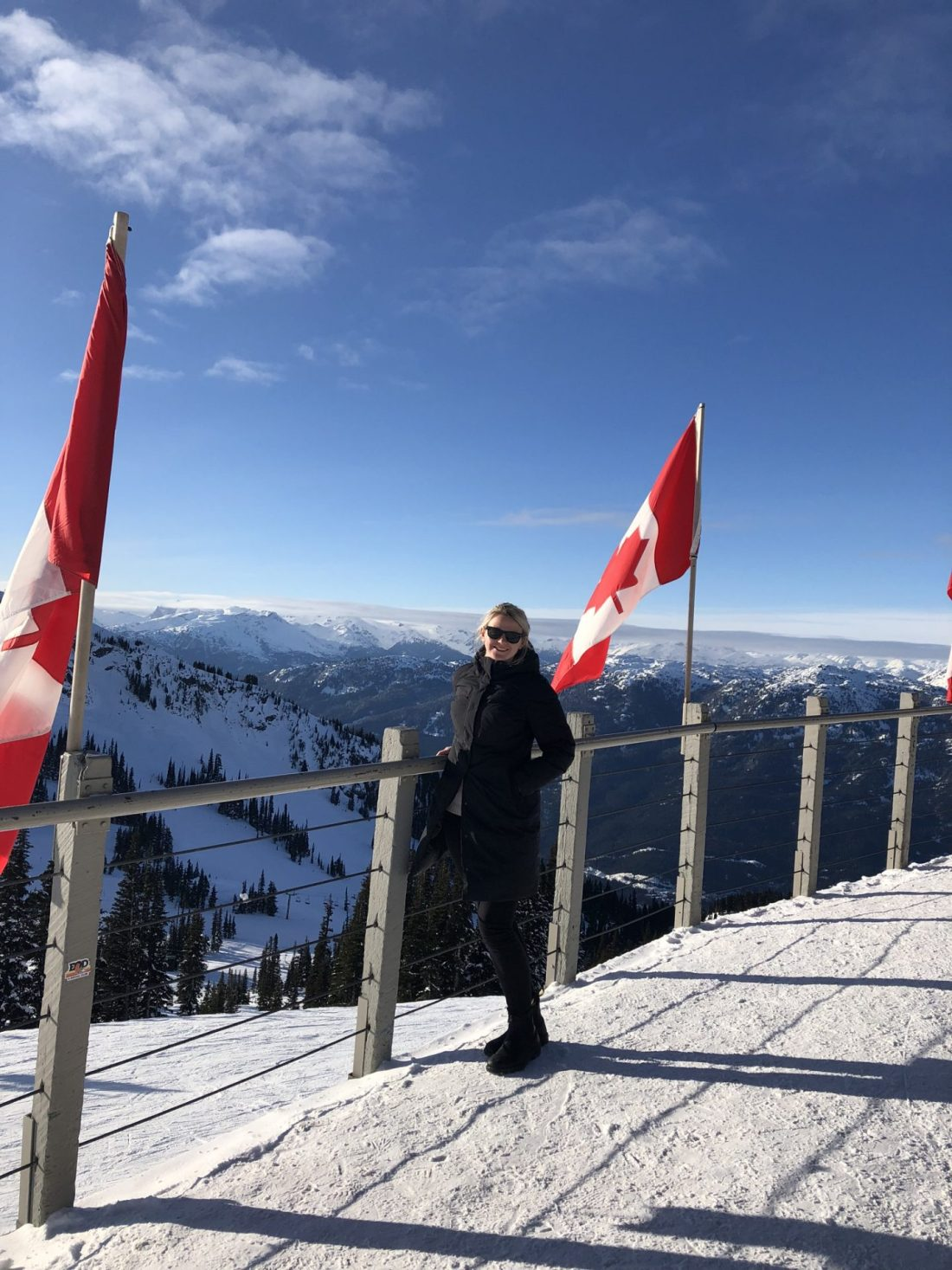 Laura at the peak of Whistler mountain