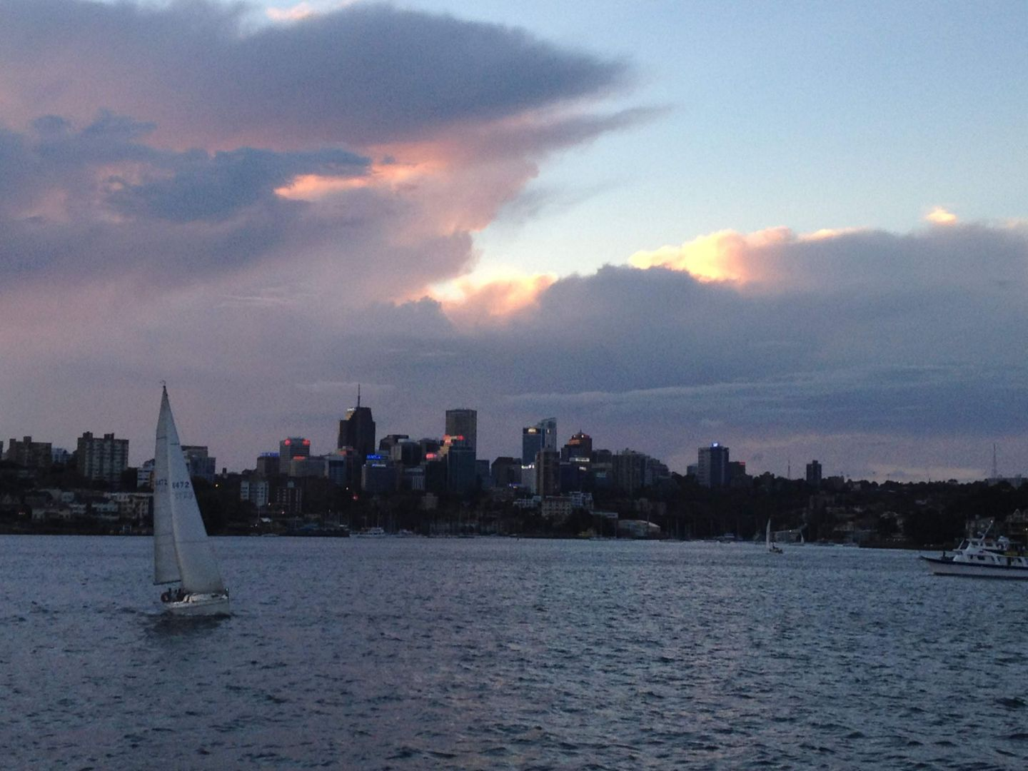 A sunset from the Manly Ferry