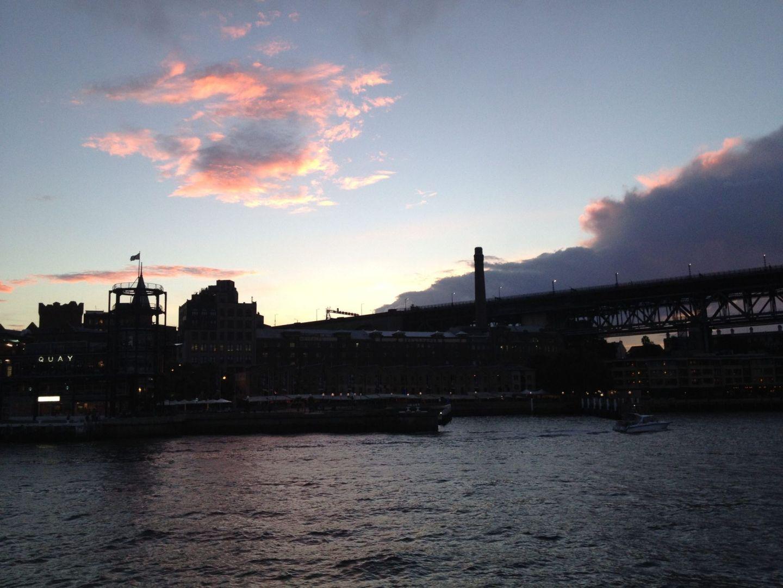 A sunset over Circular Quay, Sydney