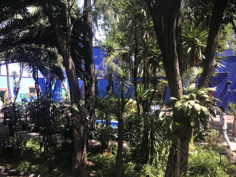The grounds of Casa Azul, Frida Kahlo Museum, Mexico City