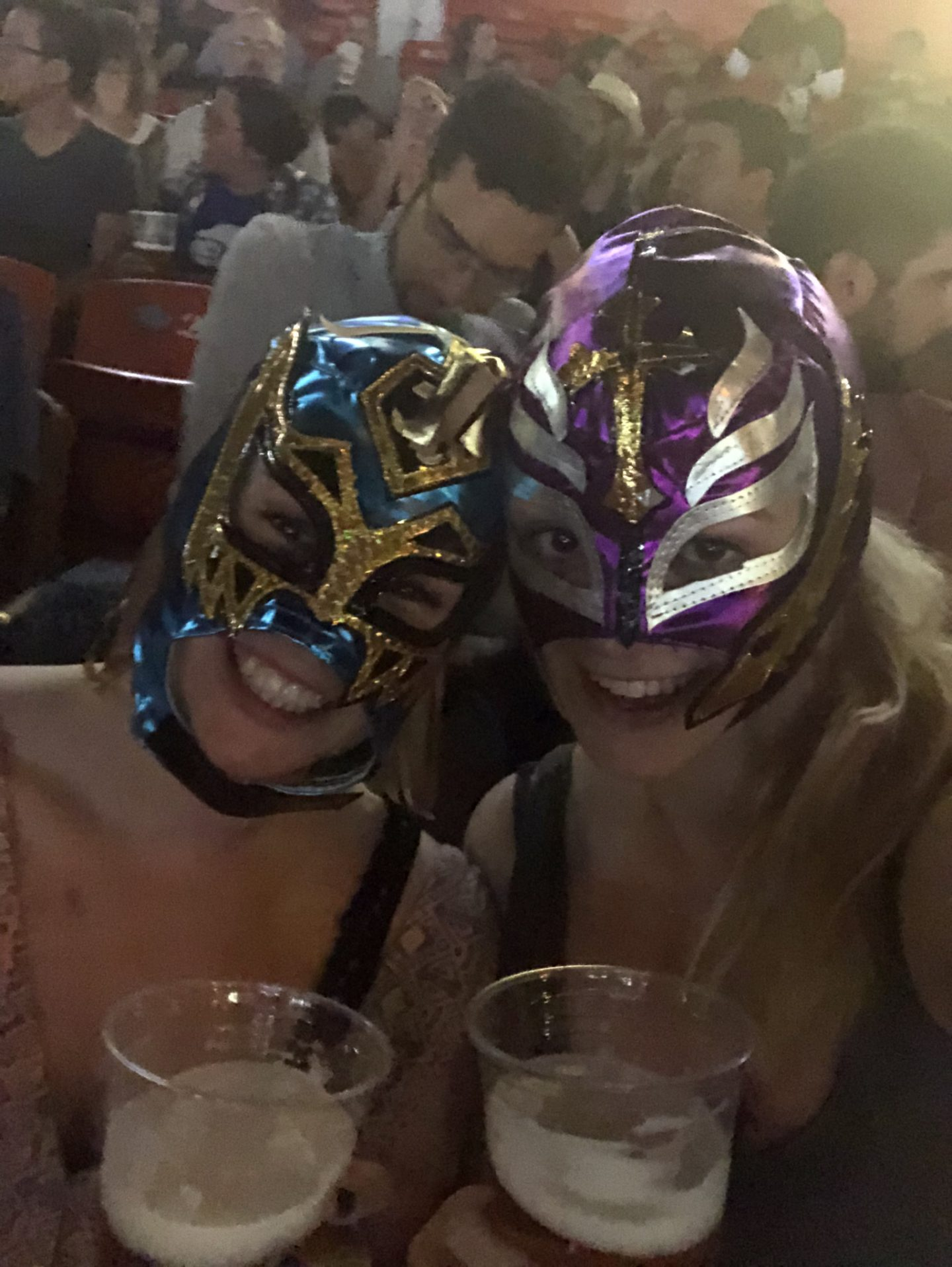 Girls in lucha libre masks