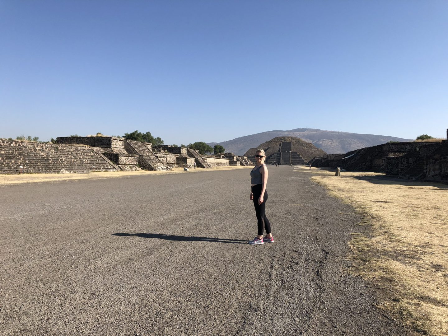 Laura on the Avenue of the Dead, Teotihuacan
