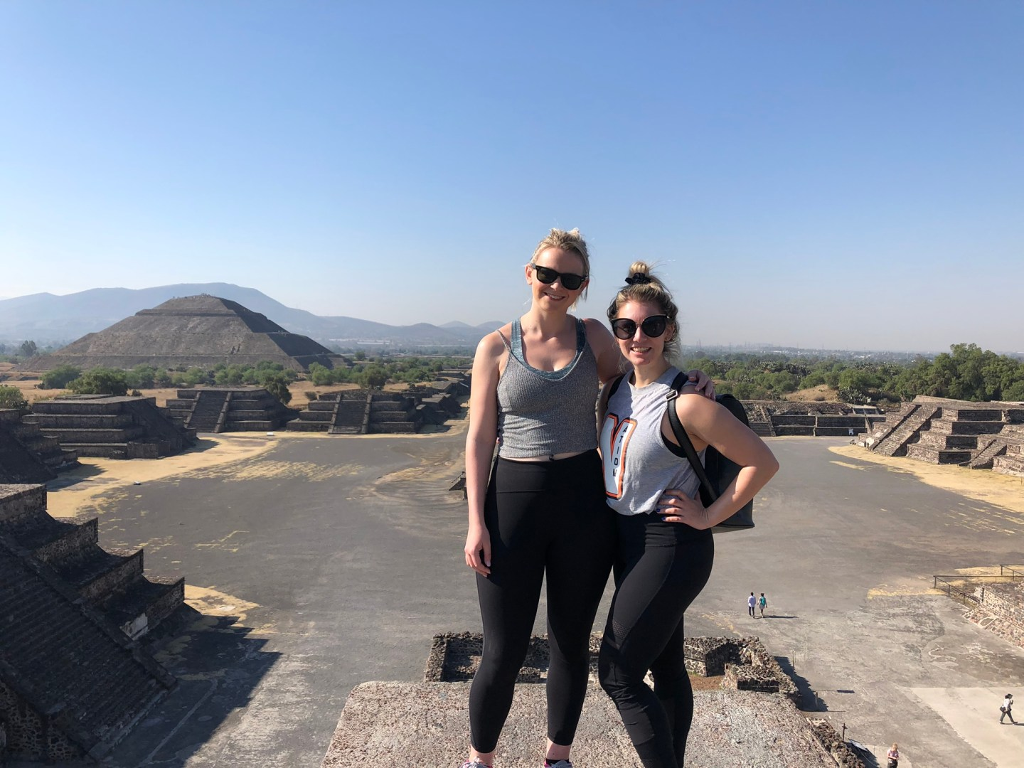 Girls on top of the Pyramid of the Moon