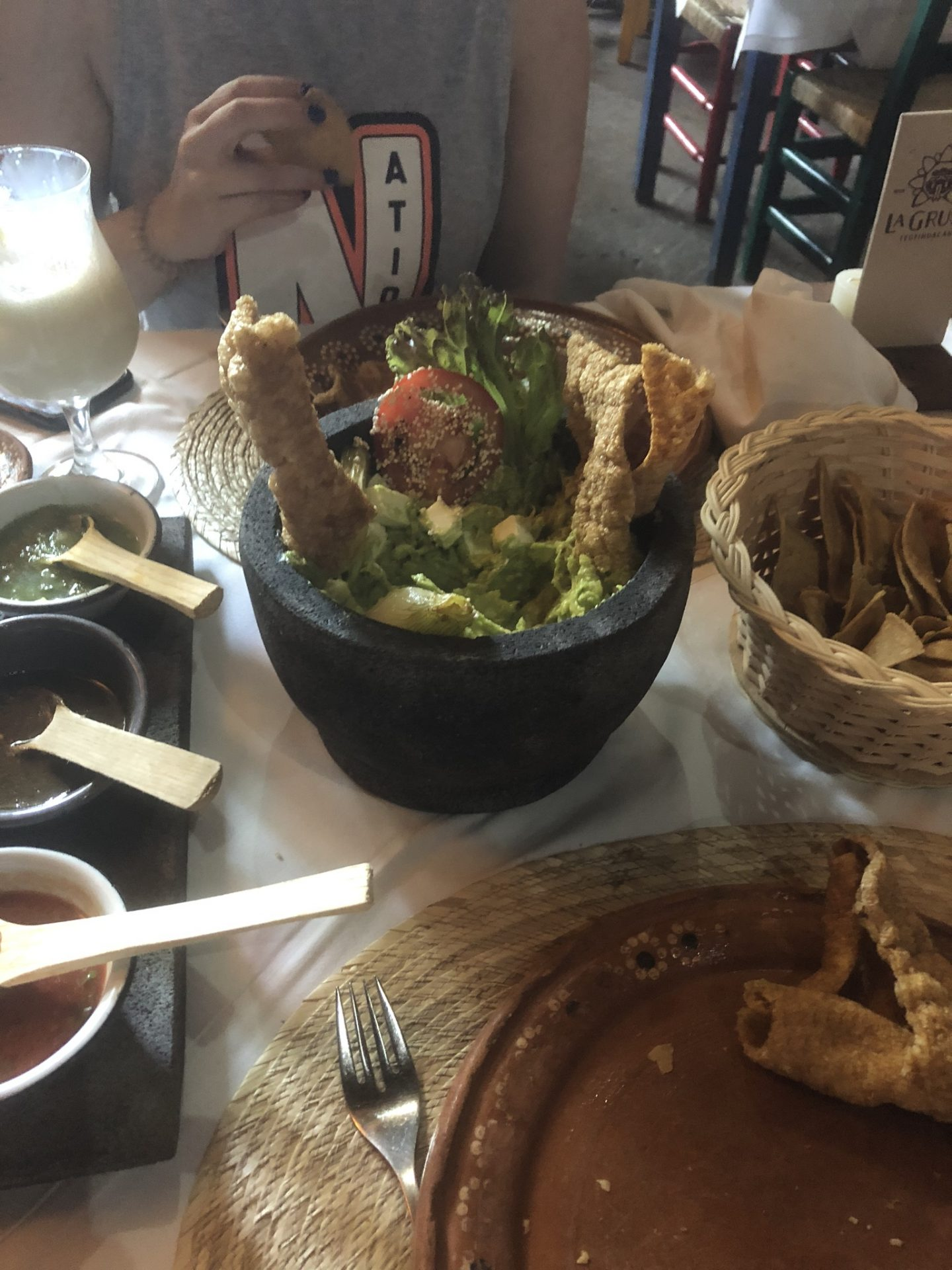 Guacamole at the Gruta, Mexico City