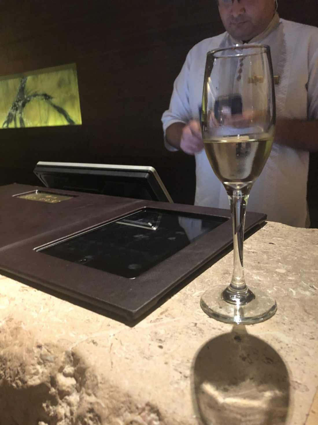 Champagne at check in at Secrets The Vine, Cancun