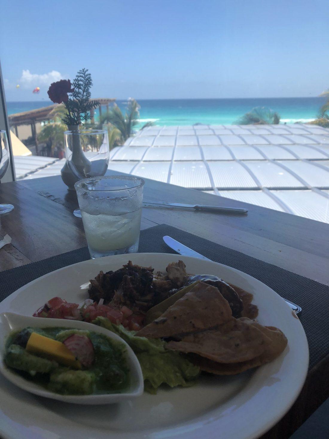 Lunch at Secrets the Vine, Cancun